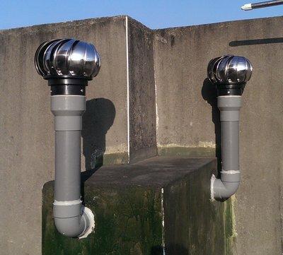 """§排風專家§ 4"""" 通風球 304不銹鋼 可轉配2吋~3吋水管 排風球, 適用於 浴室 廁所 大樓通風管(含異管組)"""