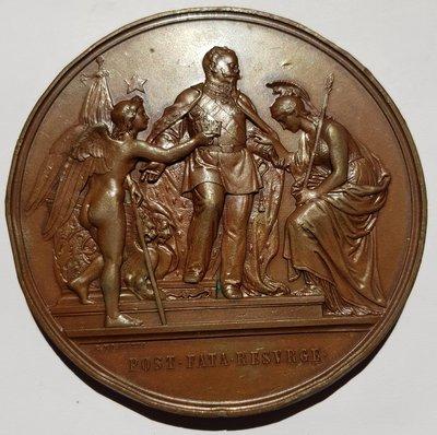 義大利銅章 1871 Italia V. Emanuelle II King of Rome Bronze Medal