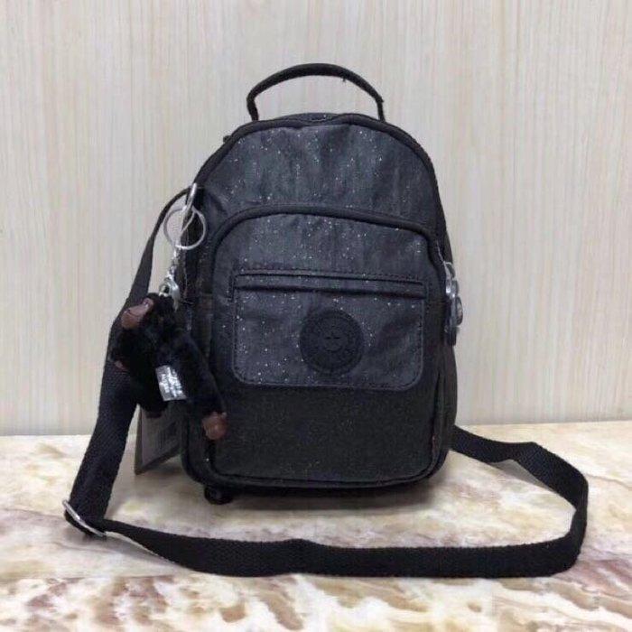 Kipling 猴子包 mini HB7349 星空黑 多用款肩背 斜背 側背 輕量雙肩後背包 小號 防水 限時優惠