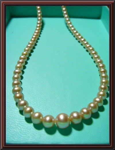 天然珍珠串鍊 母親節最佳禮物  再加贈天然珍珠耳環一付 (2) BB22B5
