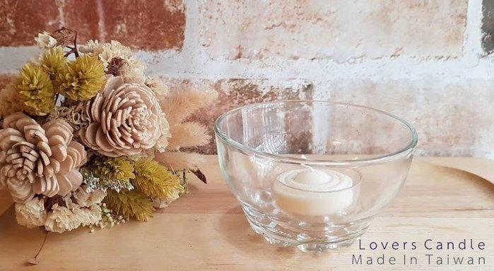 玻璃燭杯+大豆透明殼蠟燭【求婚/燭台/燭光晚餐/氣氛營造/結婚紀念使用】