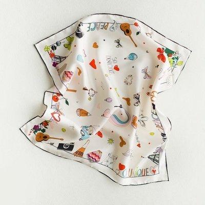 優雅俏麗/秘密花園絲巾(100%純蠶絲)純天然材質~給皮膚最細緻的呵護