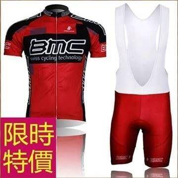 男短袖自行車服套裝-經典好搭吸濕自信男單車衣55u27[獨家進口][米蘭精品]