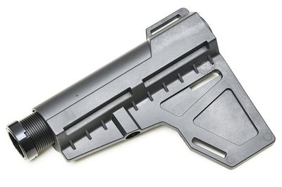 [01] KAK 刀葉 抗震 戰術槍托 黑 ( 電動工具 電鑽 電池 鋰電 快拆BB槍BB彈卡賓槍步槍玩具槍AEG AR