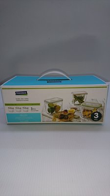 宗霖~(含運)Glasslock 格拉氏洛克 強化玻璃保鮮盒三入組 SP-1803(含運)