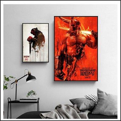 地獄怪客 Hellboy 電影海報 藝術微噴 掛畫 嵌框畫 @Movie PoP 賣場多款海報~