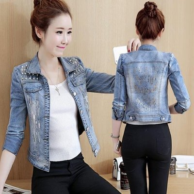 YEAHSHOP 牛仔外套女短款修身顯瘦韓版時尚百搭長袖夾克上衣潮Y185