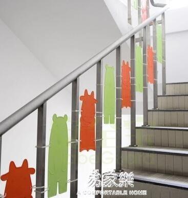 樓梯護板樓梯防摔防護門欄兒童樓梯口兒童安全門免打孔6YYS      易家樂
