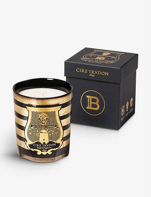 限量 Cire Trudon x Balmain 法國香氛蠟燭 270g 黑玫瑰 雪松木 煙草 皮革香 雪茄香調 琥珀色