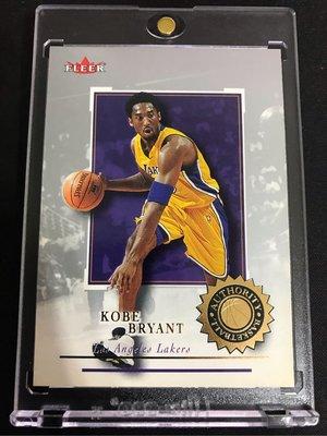 🐍2000-01 Fleer Authority Basketball #87 Kobe Bryant