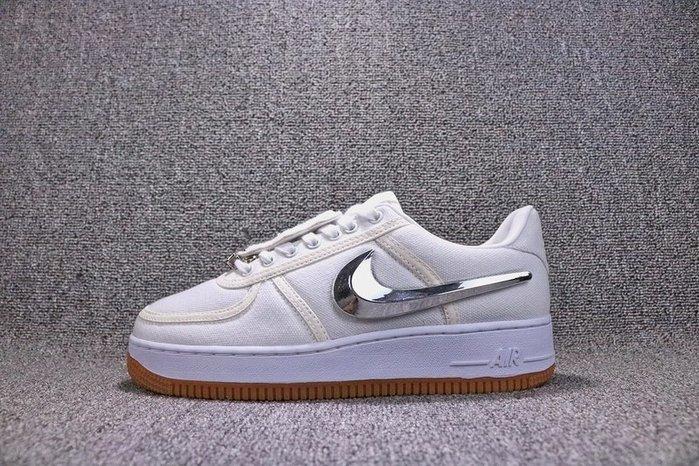 Nike Air Force 1 AF 100 全白 百搭 魔術貼 低幫 休閒滑板鞋 男女鞋 AQ4211-100