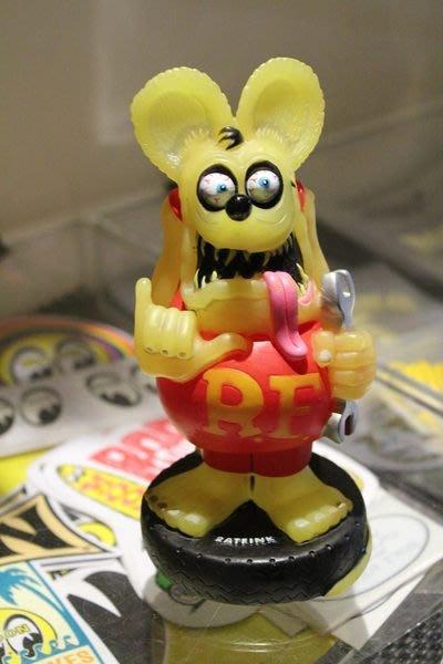 (I LOVE樂多)特價RAT FINK老鼠芬克系列搖頭公仔( 夜光)板手版送人擺飾裝飾