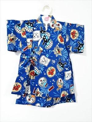 ✪胖達屋日貨✪褲款 95cm 藍底 麵包超人 日本 日本 男 寶寶 兒童 和服 浴衣 甚平 攝影