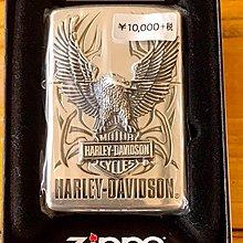 《潮流本舖》日版 正品 ZIPPO 哈雷 HARLEY 銀色 老鷹 立體浮雕 燃油打火機 煤油打火機