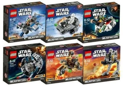 Lego 75125 75126 75127 75128 75129 75130 Microfighters