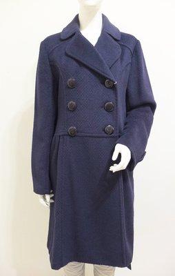 美國設計師【GUESS by Marciano】深藍 60%安哥拉羊毛&羊駝毛 大衣外套~直購價2190~品