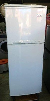 【真實園中古家電】東元 TECO R1302W 130公升 雙門 二手 冰箱 除霜/抗菌/省電/靜音/機美