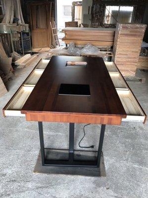 【新精品】客製化木工區 ET-005 春茶木實木客製火鍋桌 可訂製放置電磁爐 在家也可享用 台灣製造 可訂製尺寸