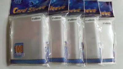 【美】透明卡套 61x88mm 100張(薄 5包)適用 遊戲王 VG BS 偶像學園 AIKATSU LINK 1005 紙牌 第一層