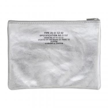☆Juicy☆日本spring雜誌附錄ZUCCa 品牌 金屬光澤 銀色 手拿包 收納袋 小物包 化妝包 筆袋 2335