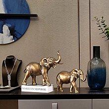 〖洋碼頭〗歐式輕奢家居擺件新古典客廳酒櫃樣板房玄關裝飾品銅金色象鹿擺設 hbs404