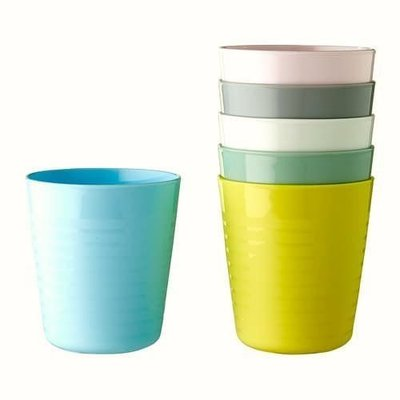 ◇就是愛雜貨◇IKEA.KALAS 兒童餐具 彩色塑膠杯 6件一組 台北市