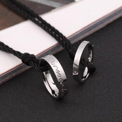 項鍊歐美戒指項鍊男掛墜情侶吊墜男生鈦鋼個性訂製學生潮人掛件飾品