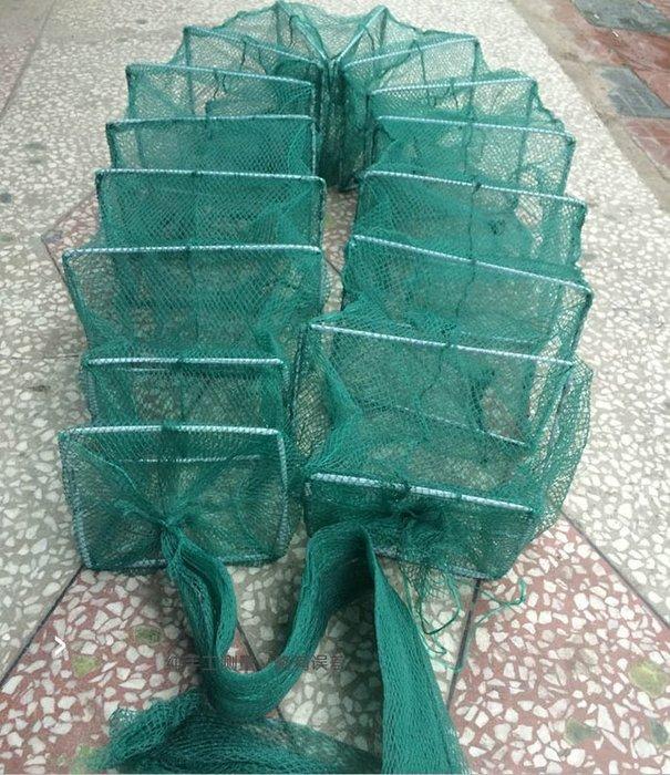 *蝶飛*升級加固型 長層網 蟹網 地籠網 蜈蚣網 折疊漁網 折疊網 蛇籠 蝦籠 蝦網 框24X18公分 2.4米