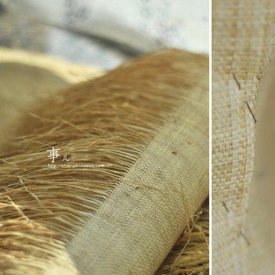 布料 進口紙草面料-非洲拉美土著風格草編織物/可立裁剪車縫/1張價