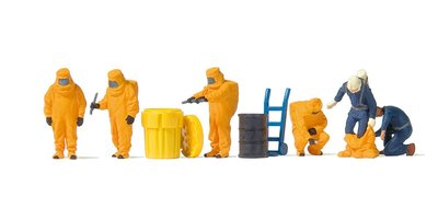 傑仲 (有發票) 博蘭  Preiser 人物組 Firemen with yellow 10732 HO