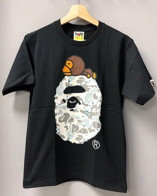 [FDOF] BAPE SPACE CAMO MILO ON BIG APE HEAD TEE夜光大頭上面趴milo短T