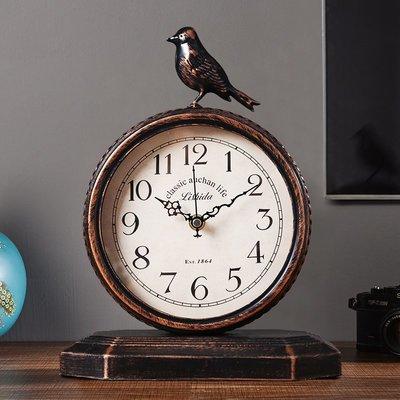 千禧禧居~歐式復古座鐘客廳創意擺件坐鐘大號鐘表時鐘桌面臺鐘家用臺式擺鐘