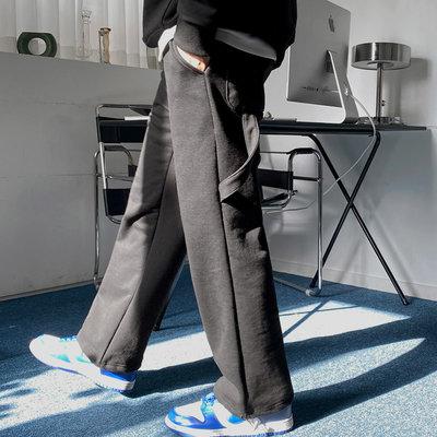 正韓男裝 寬帶設計抽繩落地褲SET-UP套裝 / 2色 / FD1121092 KOREALINE 搖滾星球