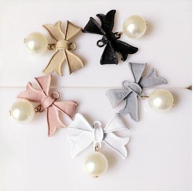 高貴典雅珍珠水鑽配件/diy飾品配件/集思特緞帶美學髮飾(1121-1)