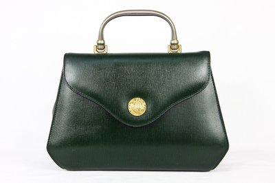 【古物箱】日本帶回  漆牛皮 祖母綠 手提  醫生包 ( 真皮 牛皮 二手 古著 老件)