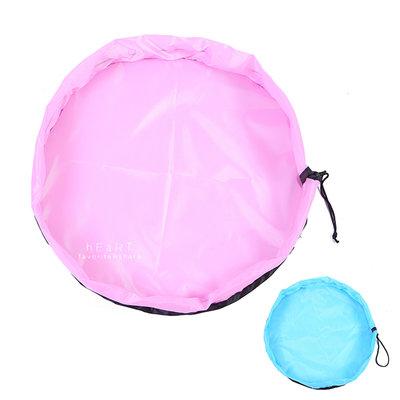【媽媽倉庫】 多功能抽繩玩具收納袋 直徑50cm 束口袋
