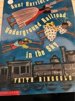 aunt's harriet's underground railroad in the sky 二手英文童書 大41