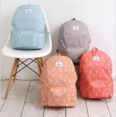輕巧旅行可折疊雙肩背包女包背包學生書包男包登山包戶外包 折疊收納包, 防水休閒後背包