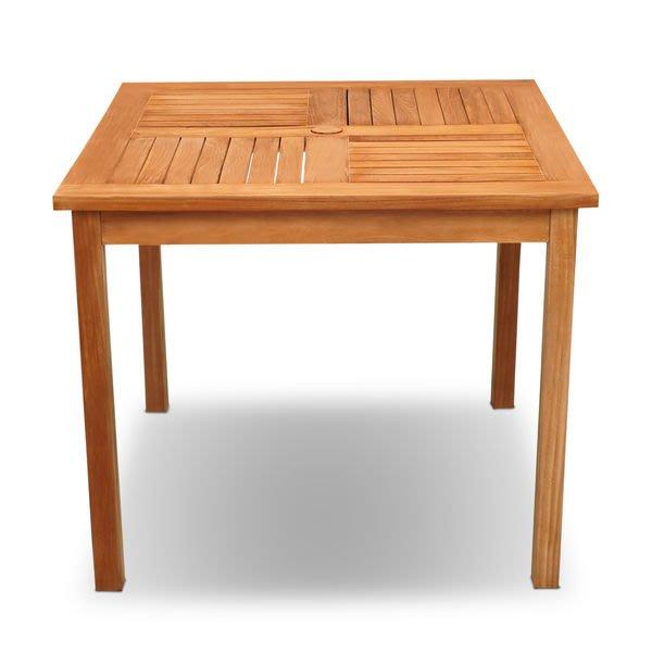 Brother 兄弟牌印尼柚木製古典方桌(90cm)~庭園休閒必備!南洋休閑風情