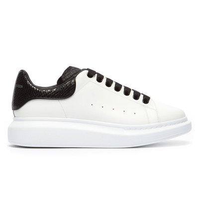 【SHOPPA】ALEXANDER MCQUEEN Raised 皮革 厚底  休閒鞋  MCQ 白+黑尾皮