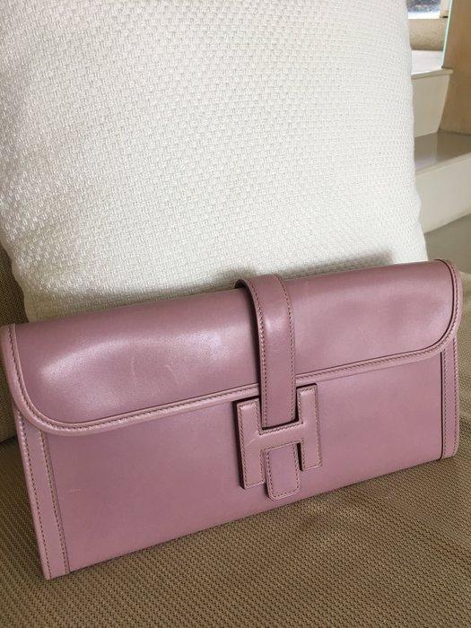 Hermes jige 紫粉色手拿包(限時特價)