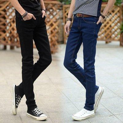 潮流爆款低價出售秋冬兩色男式彈力修身小腳牛仔長褲 Y101