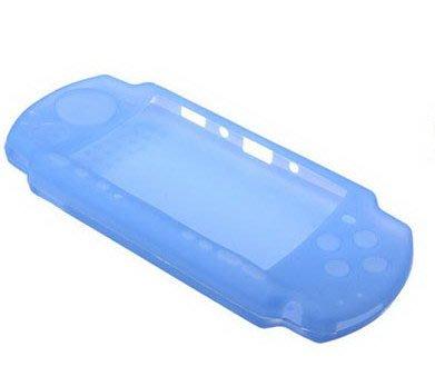 【出清商品】SONY PSP 3000 3007 副廠 果凍套 矽膠套 保護套 透明藍 透明白 新品裸裝【台中恐龍電玩】