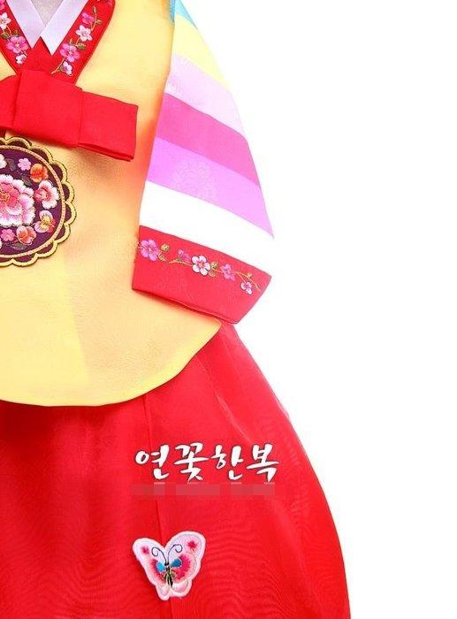 紫滕戀推出女孩韓服韓國原裝進口面料女童韓服 加頭飾
