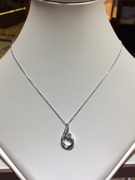 41分天然鑽石項鍊,簡單設計款式適合平時配戴,超值優惠價29800,加送14K金項鍊