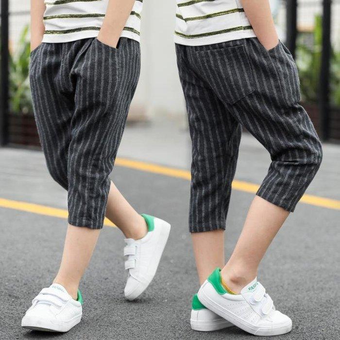 童裝男童七分褲2018新款夏裝兒童防蚊褲子中大童夏季薄款短褲外穿