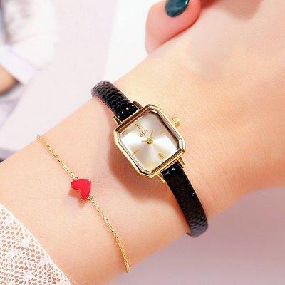薇安手錶集市~抖音日本ete小眾石英錶風女士ins風手錶chic復古小方錶細帶小錶盤