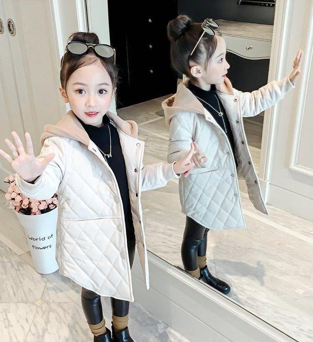 ~Linda~童裝女童外套冬裝2018新款洋氣韓版加絨秋冬棉衣兒童加厚夾棉大衣