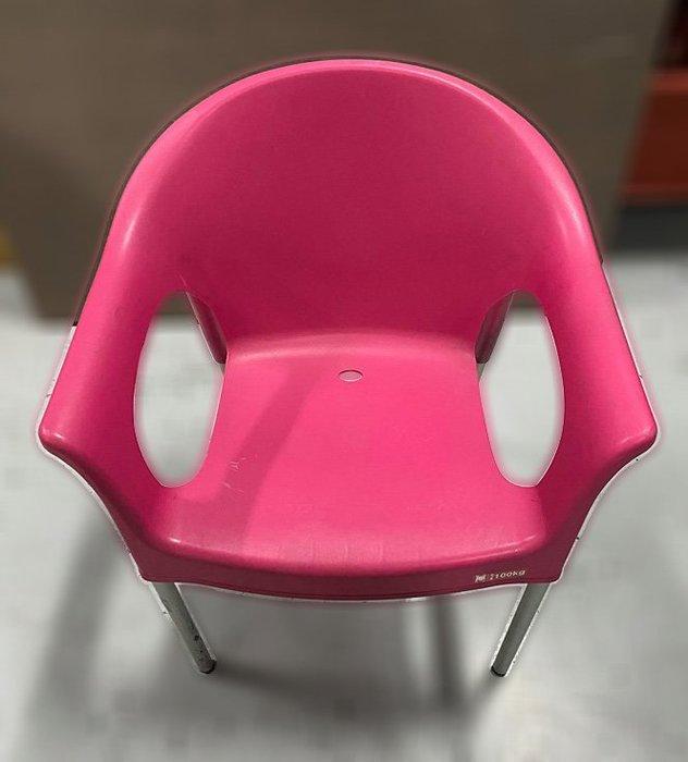 二手家具 台中 樂居全新中古傢俱買賣 F0406BJJE 粉色休閒椅 洽談椅 電腦椅 書桌椅 會客椅 2手各式家具拍賣
