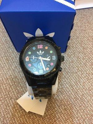 愛迪達 Adidas  黑色腕錶 1699免運 32mm/運動/防水/手錶 全新 現貨1個